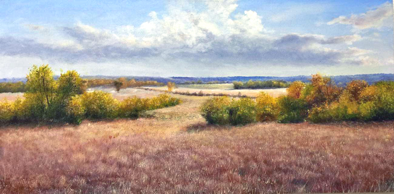 Kansas Landscape Paintings Prairie Hills Art Gallery